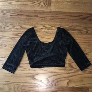 ☘️ Urban outfitters sparkle & fade crop top satin